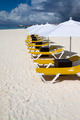 Row of Lunge Chairs and Umbrellas - PhotoDune Item for Sale