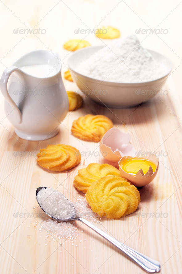 making baking cookies - Stock Photo - Images