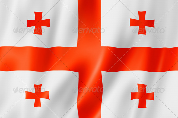 Georgian flag - Stock Photo - Images