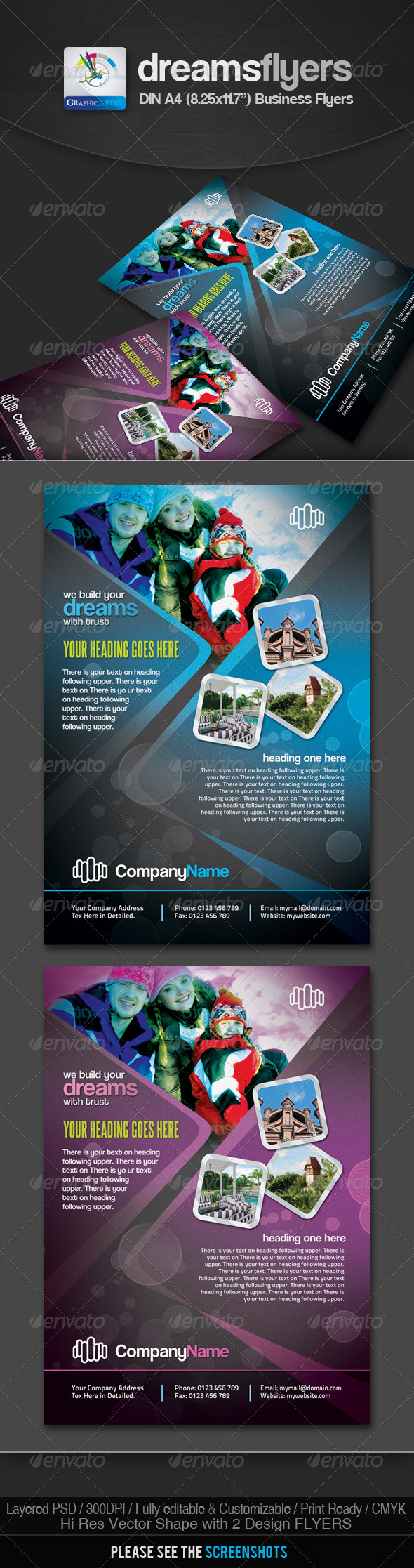 Dreams Multipurpose Business Flyers - Corporate Flyers