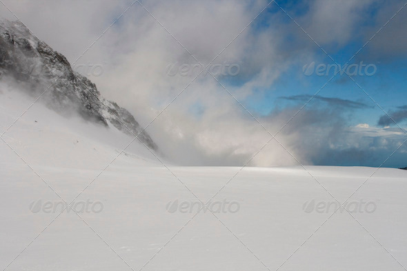 Glacier landscape - Stock Photo - Images