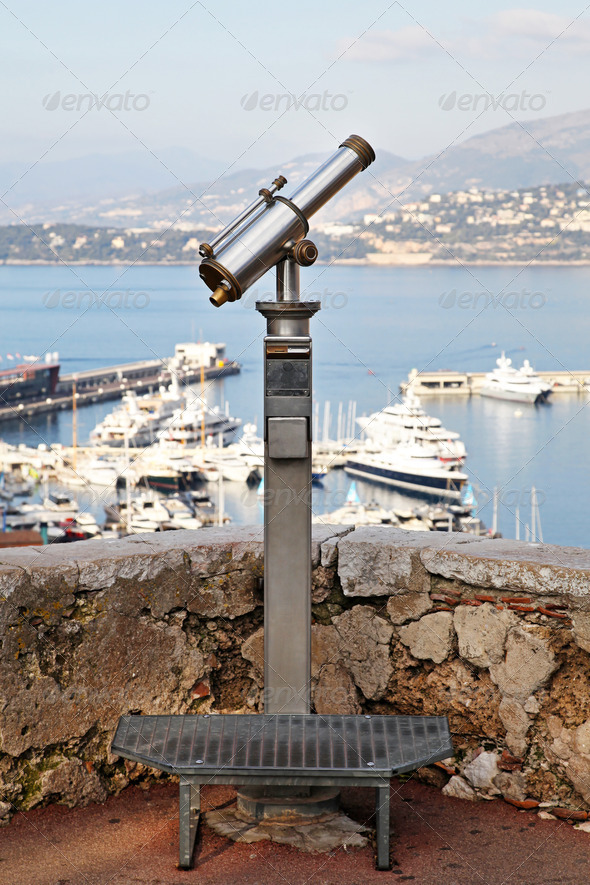 Turist telescope - Stock Photo - Images