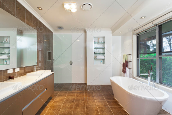 Modern bathroom - Stock Photo - Images