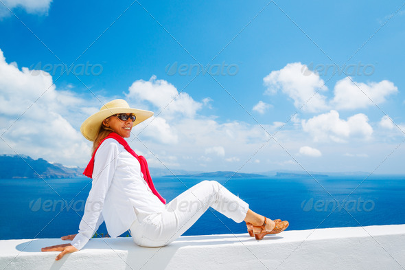 Tourist Relaxing on Vacation - Stock Photo - Images