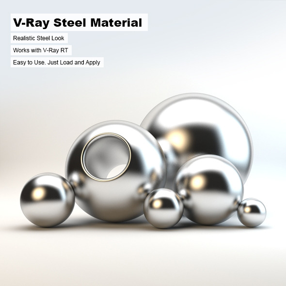 V-Ray Steel Material - 3DOcean Item for Sale