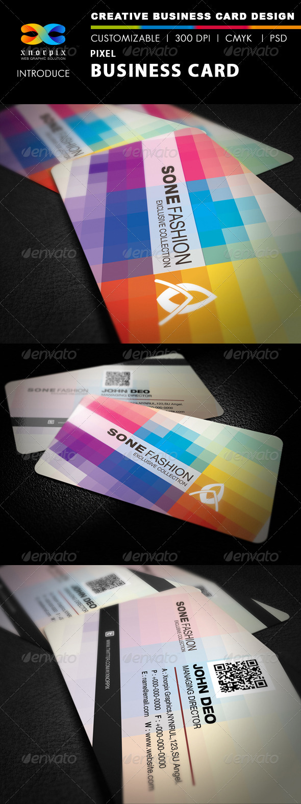 GraphicRiver Pixel Business Card 2622123