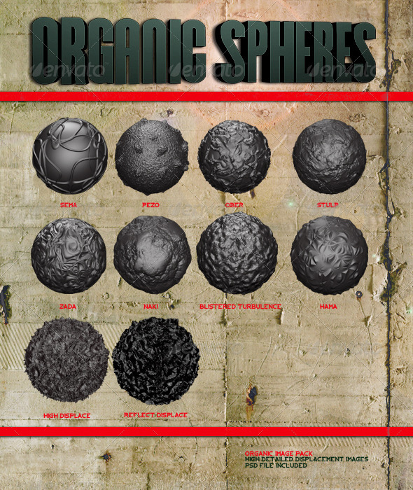 Organic Spheres - 3D Renders Graphics