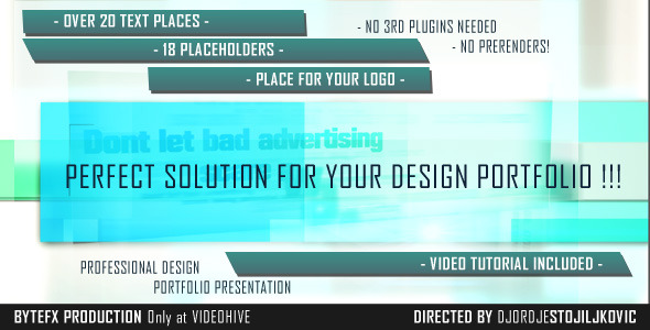 After Effects Project - VideoHive Professional Design Portfolio Presentatio ...