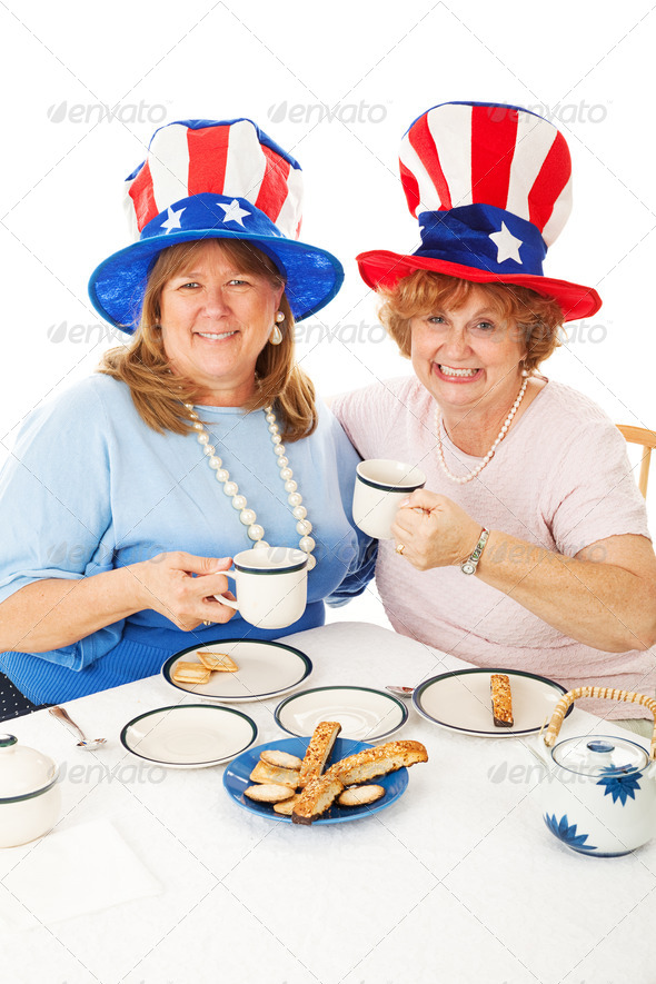 Patriotic Tea Party Voters - Stock Photo - Images
