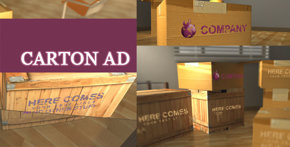 After Effects Project - VideoHive Ad On Cartons 2605379