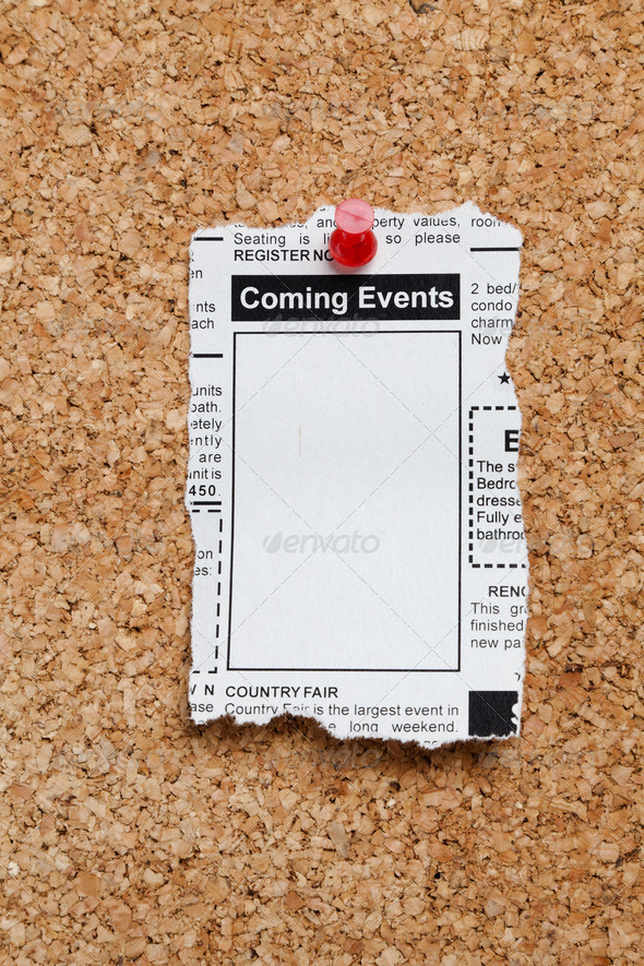 Coming Events Classifieds - Stock Photo - Images