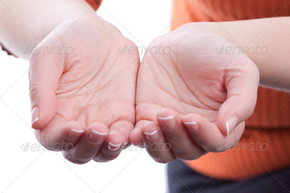 Hands holding nothing - Stock Photo - Images