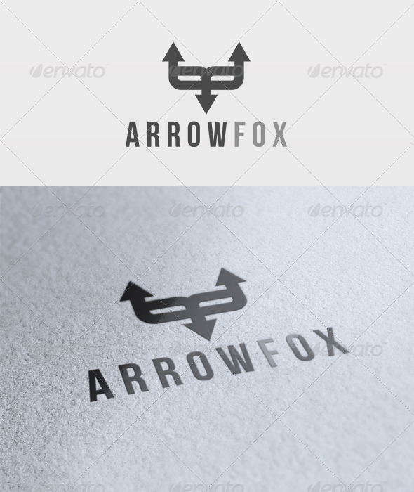 Arrow Fox Logo - Animals Logo Templates