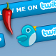 Twitter Button with Status Display - ActiveDen Item for Sale