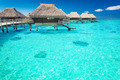 Water villas in the ocean with steps into lagoon - PhotoDune Item for Sale