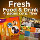 4 fresh Food_Drink flyers - GraphicRiver Item for Sale