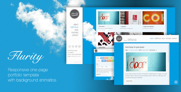 Flurity - Responsive One Page Template - Preview