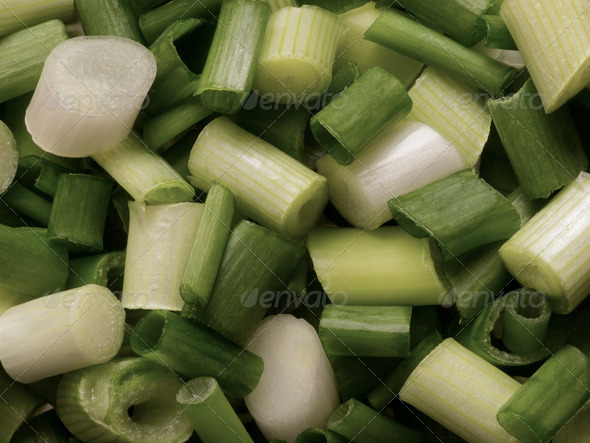 chopped green onions - Stock Photo - Images