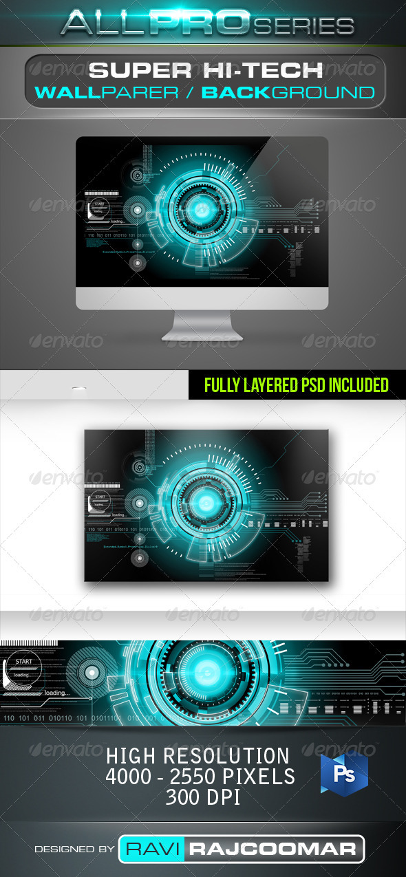 GraphicRiver Super Hi-Tech Background 2627232
