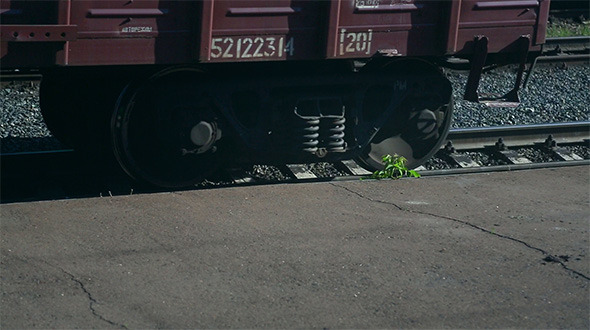 VideoHive Railroad Car Wheels 2627234