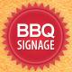 BBQ Restaurant Outdoor Banner Signage  - GraphicRiver Item for Sale