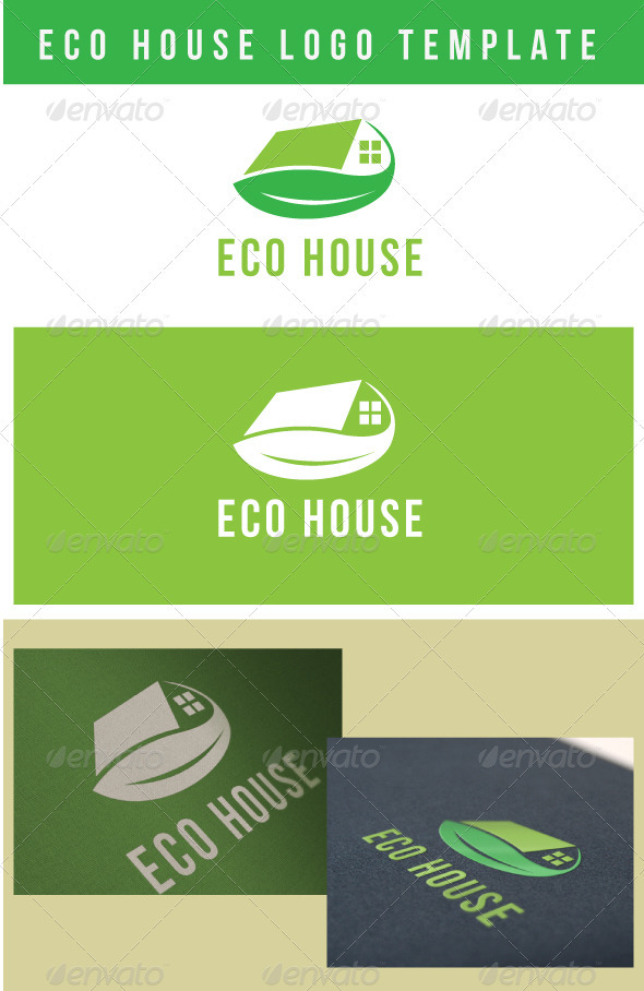 Eco House Logo Template - Buildings Logo Templates