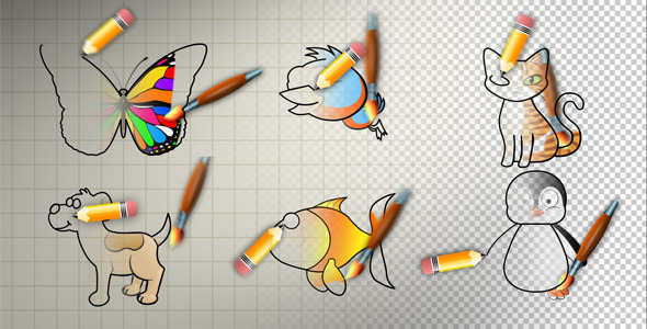 VideoHive Animal Cartoon Paint 2627570