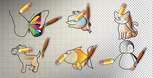 VideoHive Animal Cartoon Paint 2627570