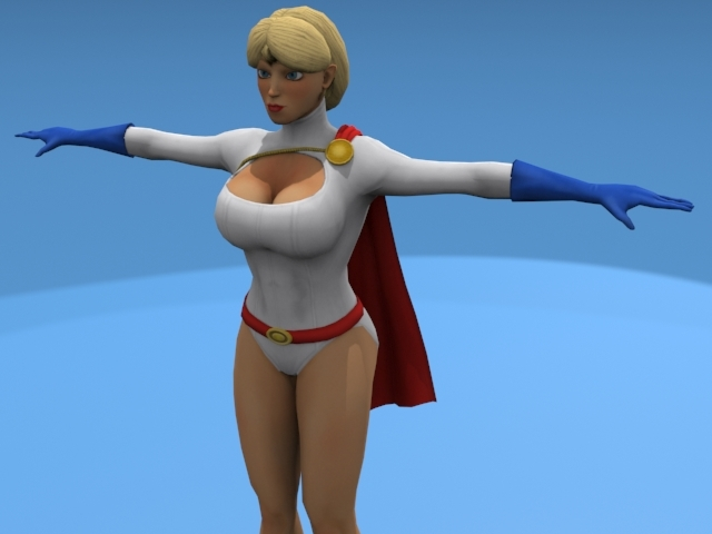 Power Girl - 3DOcean Item for Sale