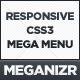 Meganizr - Responsive CSS3 Mega Menu - CodeCanyon Item for Sale