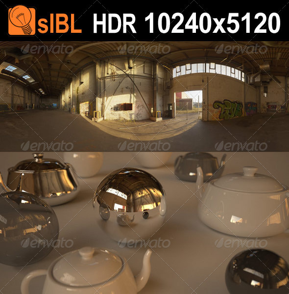 HDR 127 Industrial Hall sIBL - 3DOcean Item for Sale
