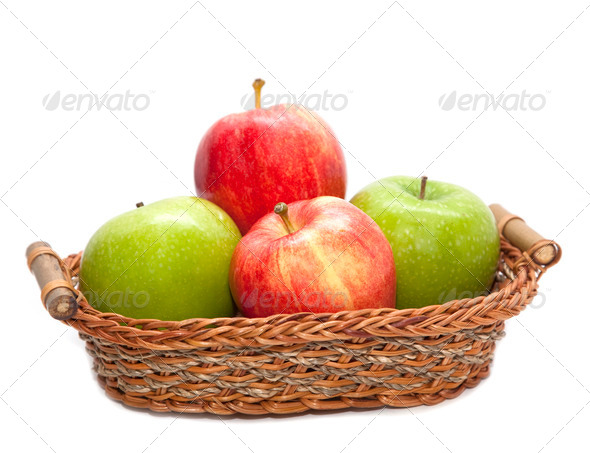 Pile of red and green apple - Stock Photo - Images