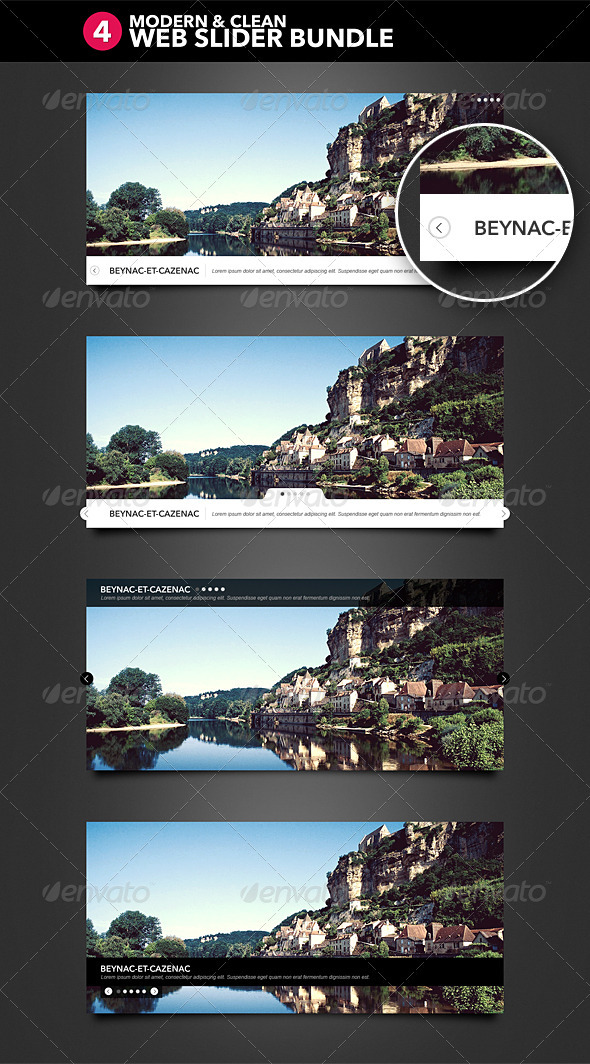 GraphicRiver 4 Modern and Clean Web Slider 2613373