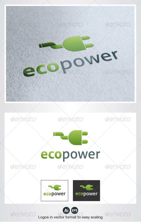 GraphicRiver Eco Power Logo 2630145