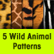 5 Seamless Wild Animals Patterns - GraphicRiver Item for Sale