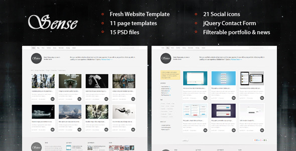 Sense - Semi-liquid Website Template