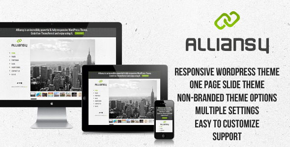 ThemeForest ALLIANSY-responsive one-slide wordpress theme 2611576