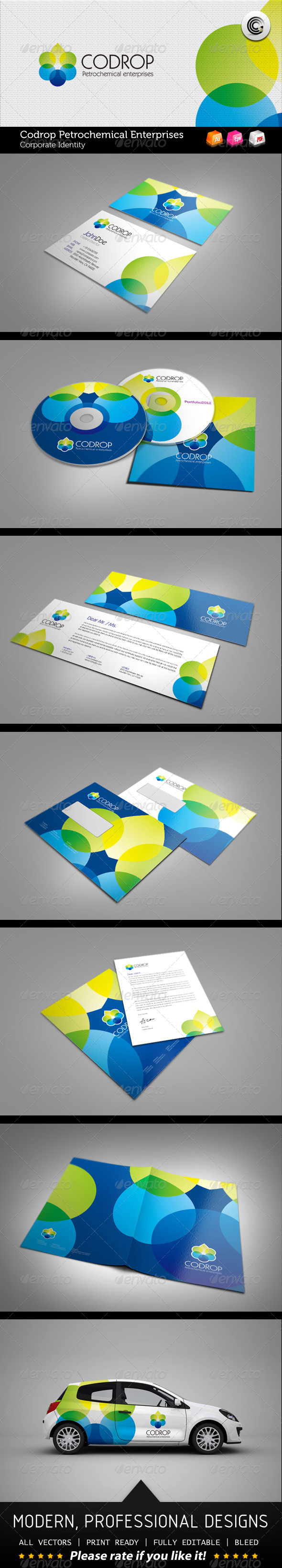 Codrop Petrochemical Enterprises Corporate Identity - Stationery Print Templates