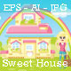 Sweet House with Beautiful Girl Shopping - GraphicRiver Item for Sale
