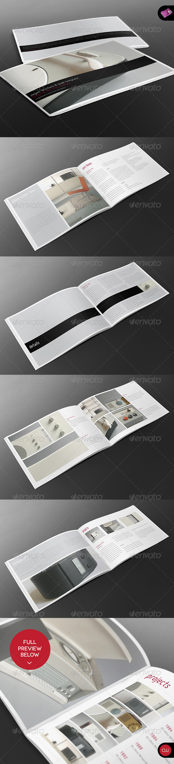 Book &amp; Brochure - Elegant Series Vol.2 - Brochures Print Templates