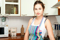 Young asian housewife on domestic kitchen - PhotoDune Item for Sale