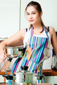 Young housewife on domestic kitchen - PhotoDune Item for Sale