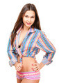 Sexy young woman in colorful panty and shirt - PhotoDune Item for Sale