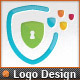 Pixel Shields Pro IT Security Service Logo Design - GraphicRiver Item for Sale