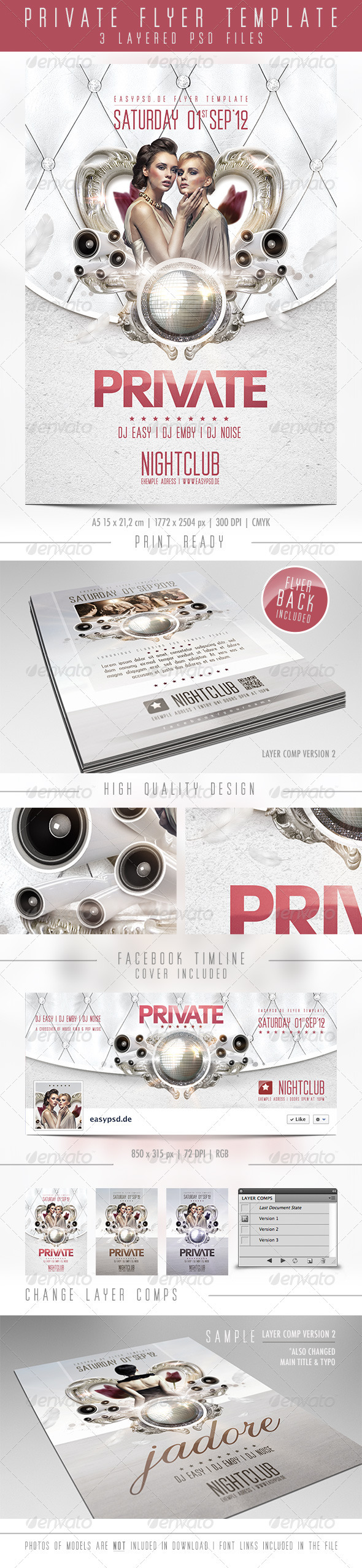 Private Flyer Template - Clubs & Parties Events