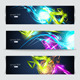 Set of banners and abstract headers with shadows - GraphicRiver Item for Sale