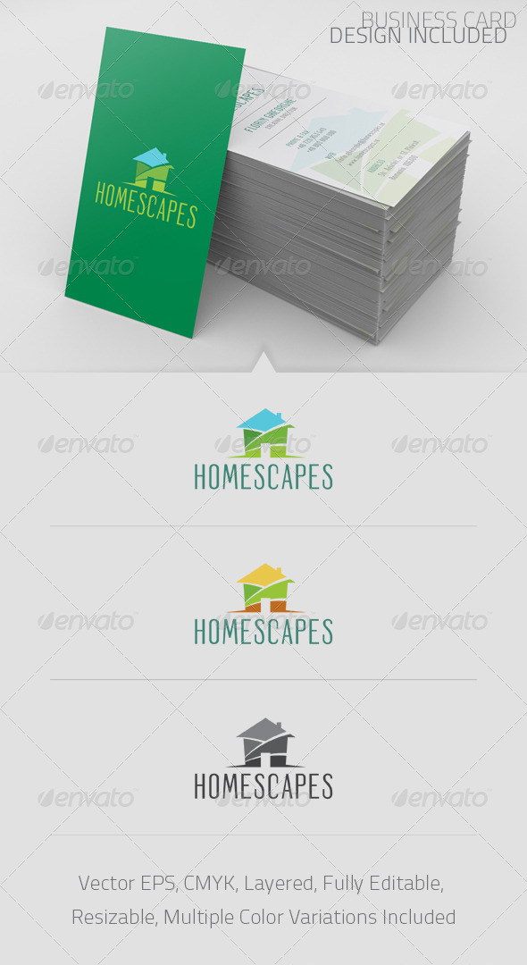 Homescapes Logo Template - Buildings Logo Templates