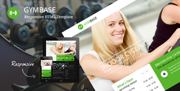 ThemeForest GymBase Responsive Gym Fitness Template 2637028