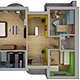 Home Interior: Floor Plan 02 - 3DOcean Item for Sale