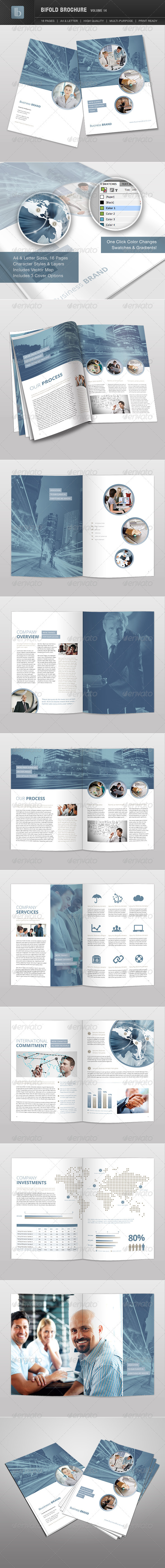Bifold Brochure | Volume 14 - Brochures Print Templates